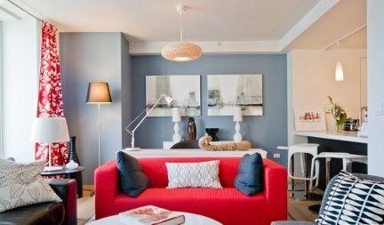Ikea catalogo lussuoso attico a manhattan arredato con i mobili ikea arredamento d 39 interni - Divano rosso ikea ...