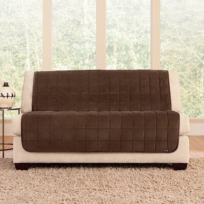 Sure Fit Deluxe Comfort Quilted Armless Box Cushion Loveseat Slipcover Furniture Covers Love Seat Loveseat Slipcovers