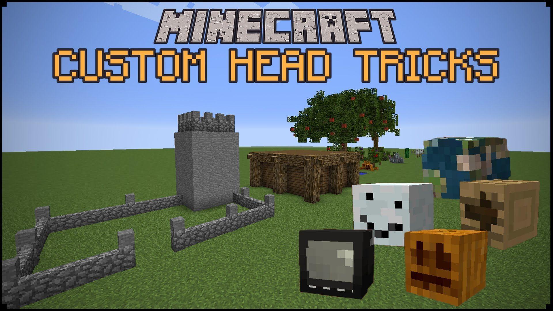 Minecraft Custom Head Tricks Minecraft Minecraft Custom