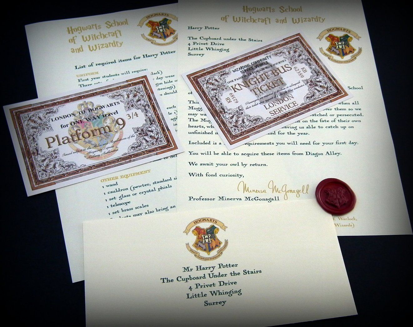 Harry Potter Geschenk im HogwartsStil Angepasste
