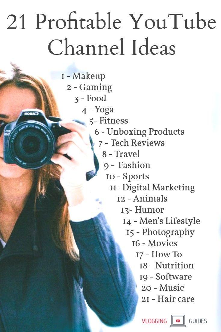 21 Profitable Youtube Channel Ideas Best Niches 2019 Dicas De Blog Produção De Vídeo E Ganhar Dinheiro No Youtube