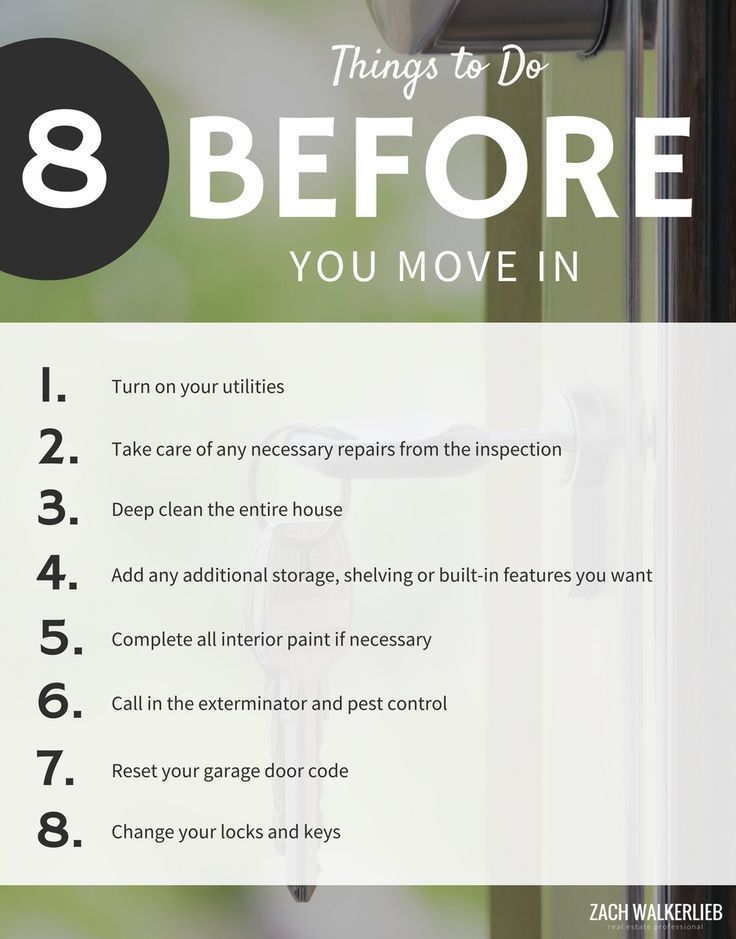 Did you just purchase a home? Maybe you're unsure of what to do next? Check out our list of 8 things you should get done before you move into your new home. These items will help make your moving process easier!  #realestate #realestateresources #homebuyer #homebuyerquestions #newhome #newhomequestions