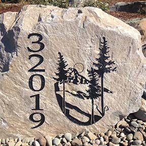 On The Rocks Engraving Rock Engraving Stone Engraving Address