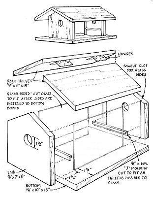 Bird House Plans Mockingbird How To Making Woodwork PDF Download ...