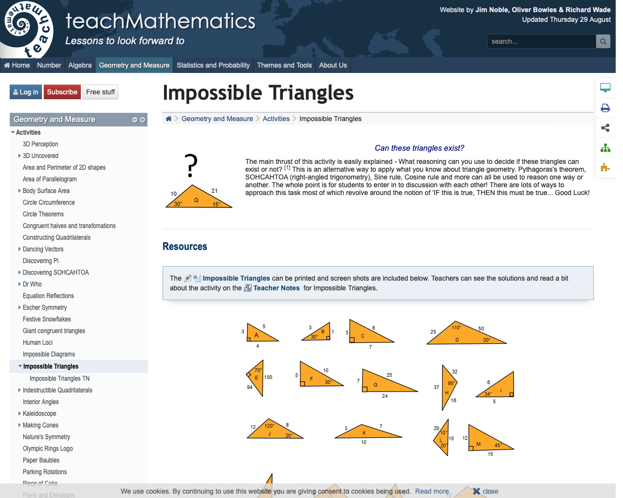 Impossible Triangles Students Use Their Knowledge Of Pythagoras Sohcahtoa Sine And Cosine Rules To Constr Impossible Triangle Impossible Triangles Activities [ 1024 x 1280 Pixel ]