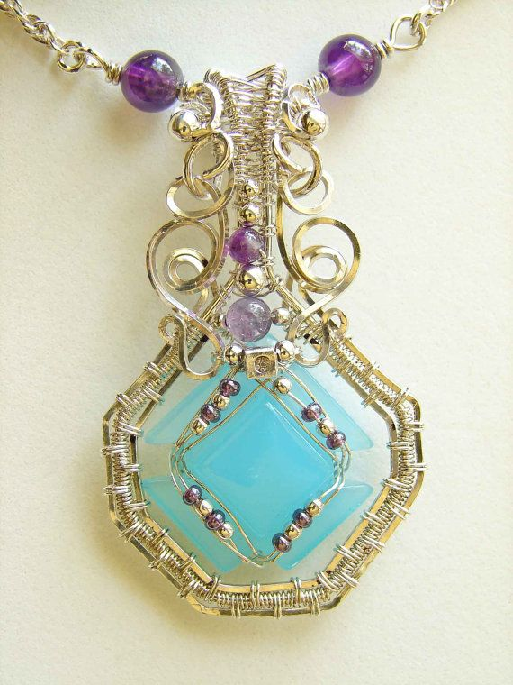 Nathis Blue Chalcedony Necklace