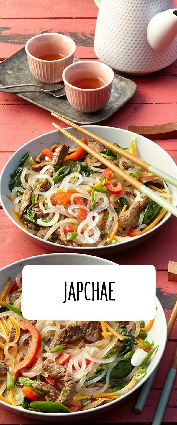 Fancy Korean The REWE recipe for the Korean noodle dish Japchae is   Salate Dressings