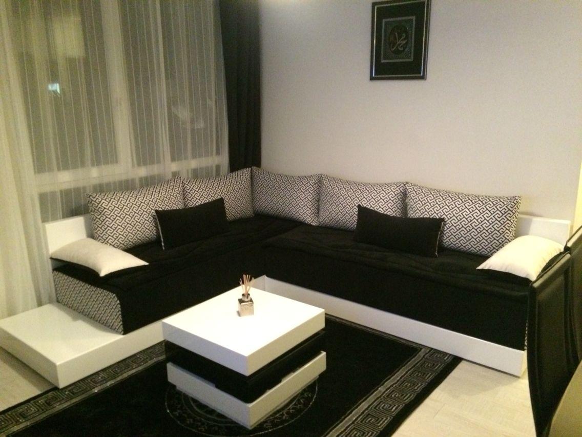 Salon Zeina By Hannach Com Composer De 2 Banquettes 200x80 Cm Avec Des Matelas Mousses Hr Haute Res Salon Marocain Design Salon Marocain Decoration Interieure