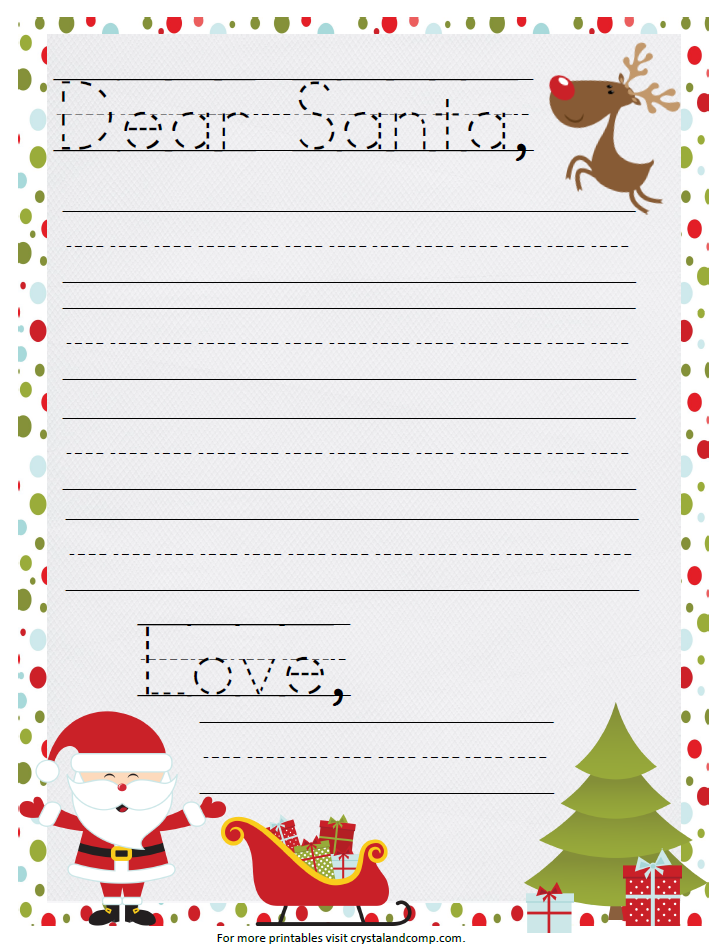 love this printable santa letter for kids santa christmas traditions and holidays. Black Bedroom Furniture Sets. Home Design Ideas