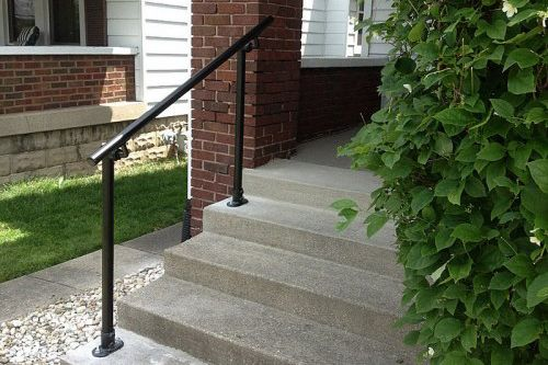 Looking To Secure Your Exterior Stairs? Learn How To Build A Simple,  Heavy Duty Handrail With A Simple Rail Kit. | Building | Pinterest | Exterior  Stairs, ...