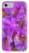Wild Orchids IPhone Case featuring the art of Carol Cavalaris