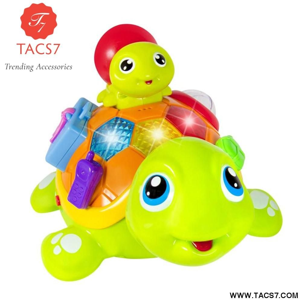 Baby toys images cartoon  ParentChild Tortoise Interactive BO Electric Animal Puzzle Turtle