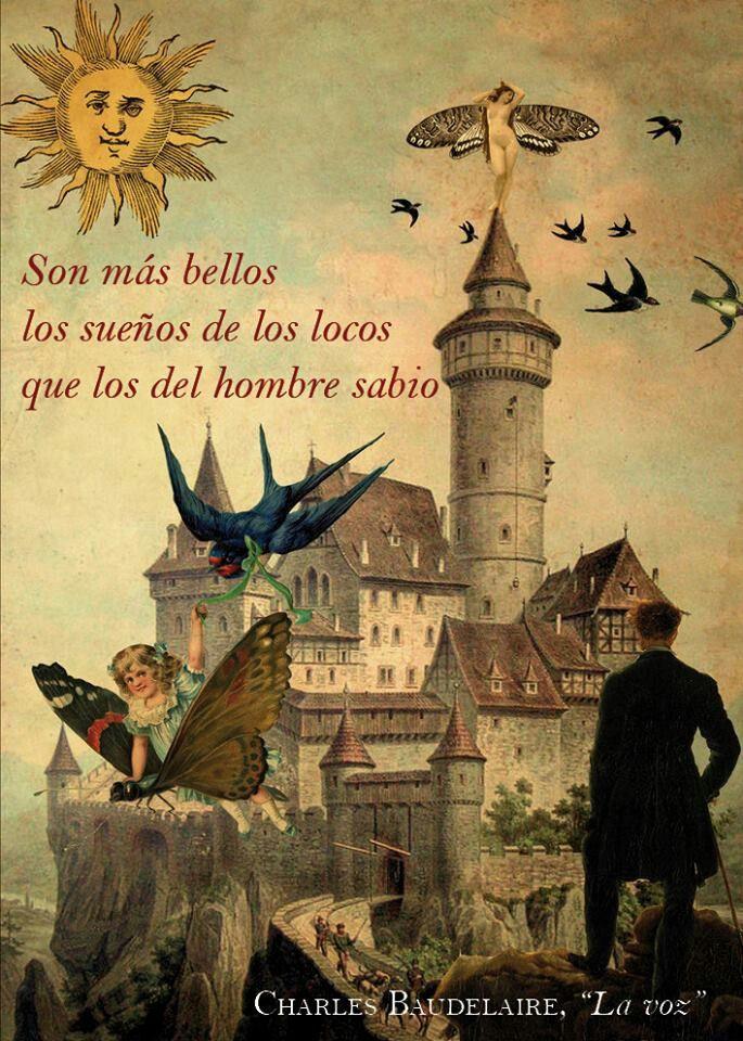 Son mas bellos los sueños de los locos que los del hombre sabio. Charles Baudelaire