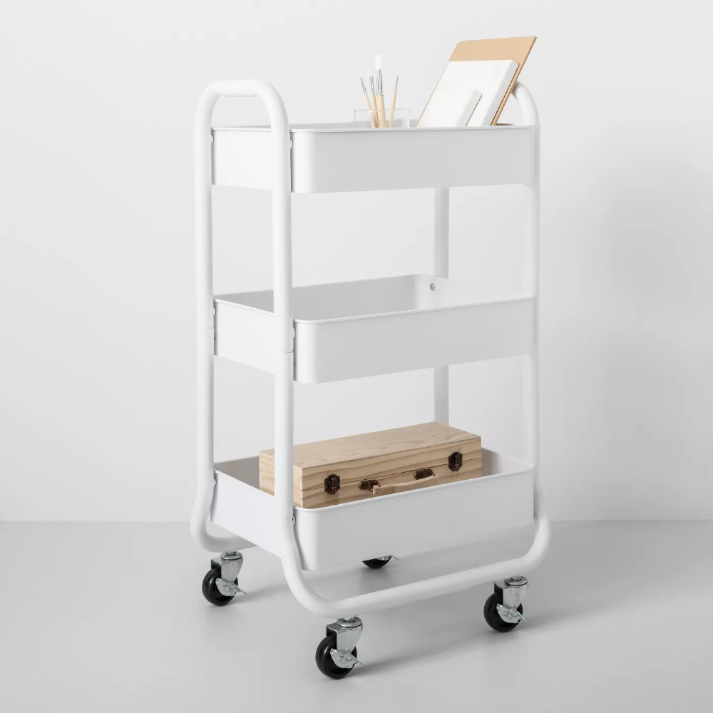 3 Tier Metal Utility Cart Made By Design In 2021 Utility Cart Cleaning Cart Made By Design 3 tier cart with wheels