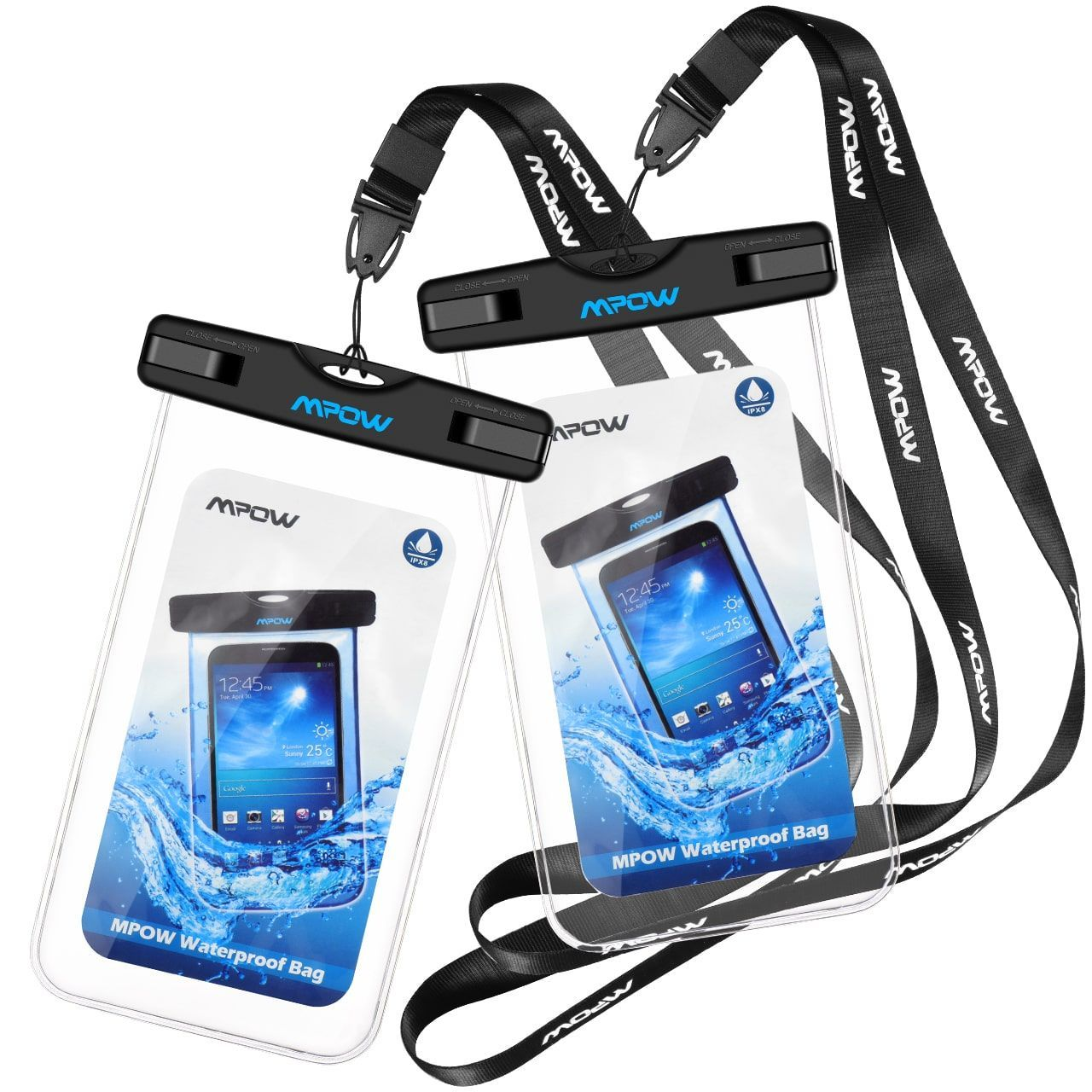 newest 42bbb e62f4 Mpow Waterproof Case, Cellphone Dry Bag with Detachable Lanyard for ...
