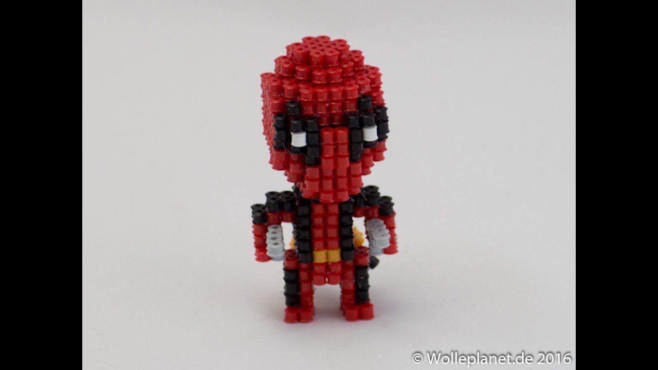 Marvel Comic Chibi Deadpool Perler Beads Bugelperlen