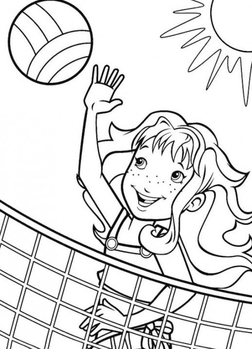 sport volleyball coloring pages for girls coloring pages sports coloring pages summer. Black Bedroom Furniture Sets. Home Design Ideas