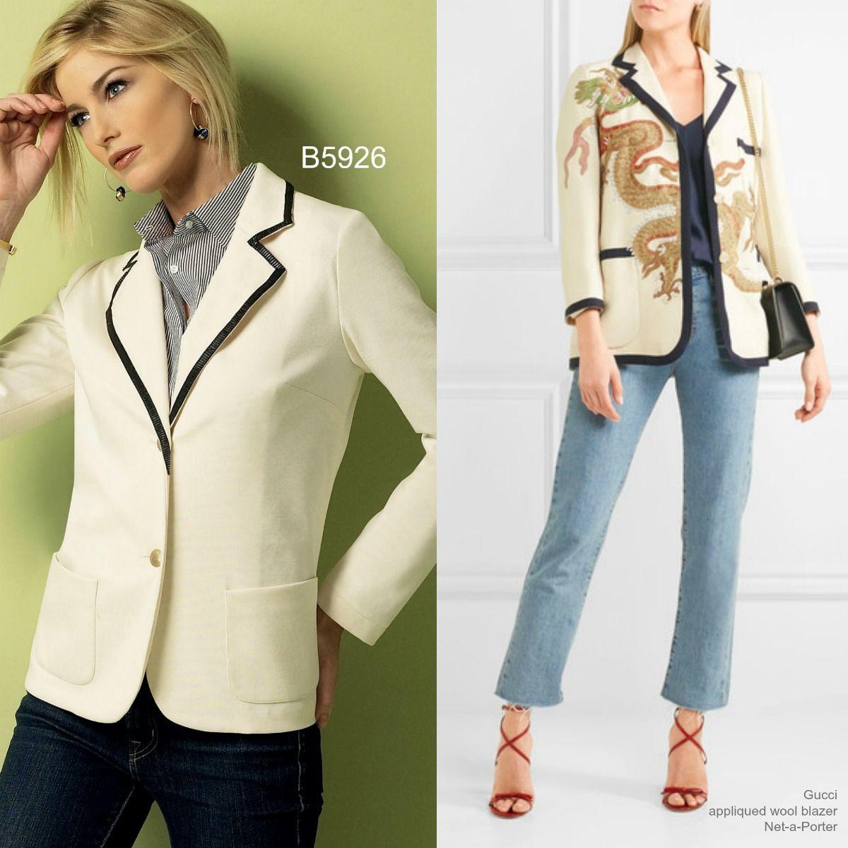 Sew the Look(tm): Butterick B5926 jacket pattern   \
