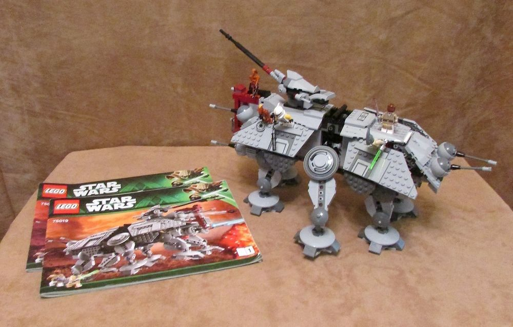 75019 Lego Star Wars At Te Complete Instructions Ship Walker Mace