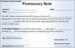 Promissory Note Template  Az Templates    Promissory