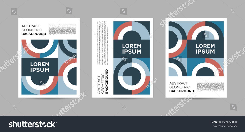 Set of Abstract Geometric Pattern Poster modernart