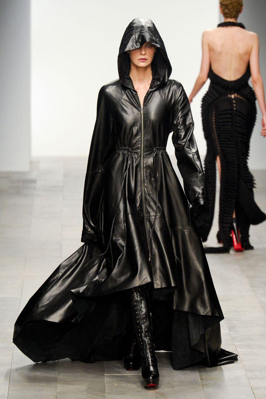 Leather Hoodie coat...nice