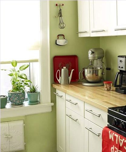 Celery Paint In The Kitchen Good Feng Shui Green Kitchen Walls Green Kitchen Kitchen Color Red