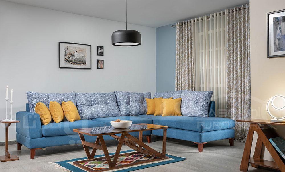 ركنة سويت سماوي اصفر Furniture Home Decor Sectional Couch