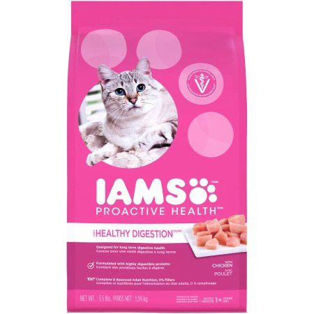 Iams Proactive Health Sensitive Stomach Dry Cat Food 3 5 Pounds Products Dry Cat Food Cat Food Dog Food Brands