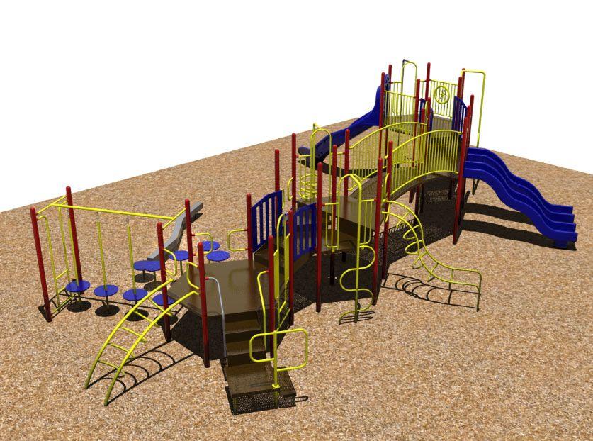 Sportsplay 4671 Playground System. Floating stones