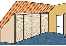 bauanleitung f r einen ger umigen dachschr genschrank dachausbau pinterest. Black Bedroom Furniture Sets. Home Design Ideas