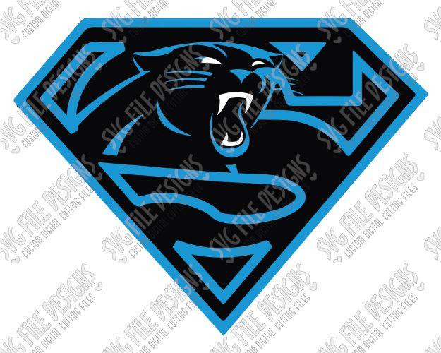 Carolina Panthers Superman Logo Svg Cut File Set For Football Fan