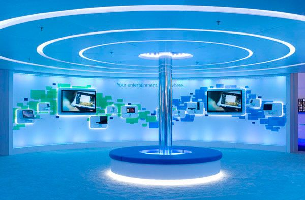 Innovative Exhibition Stand Design : Microsoft at ces exhibition design innovative d