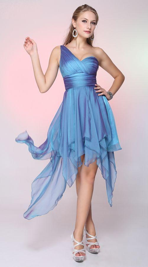 fairy blue polodlouhé společenské šaty modré - plesové šaty, svatební šaty, společenský salón