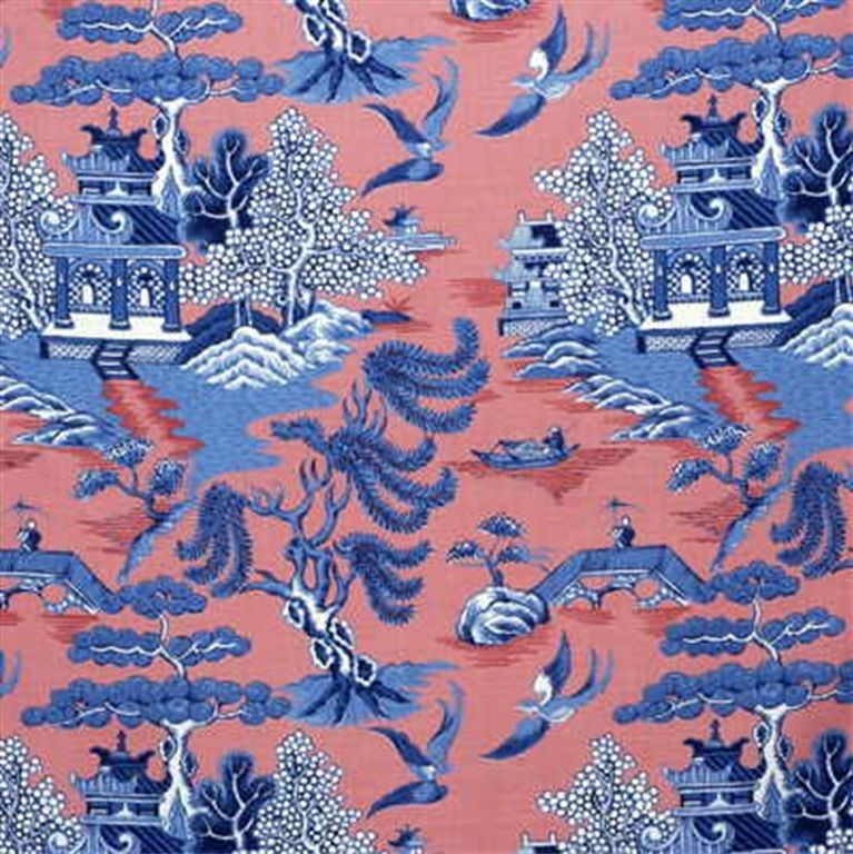 Le Jardin Chinois Brunschwig: 2004031.519 Willow Pattern Blue On By Lee Jofa
