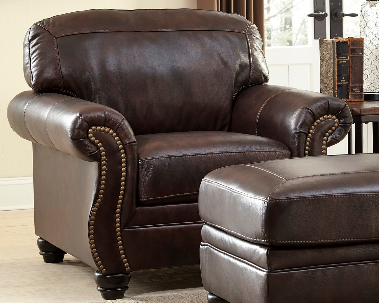 Bristan Chair, Walnut Leather Affordable leather chair