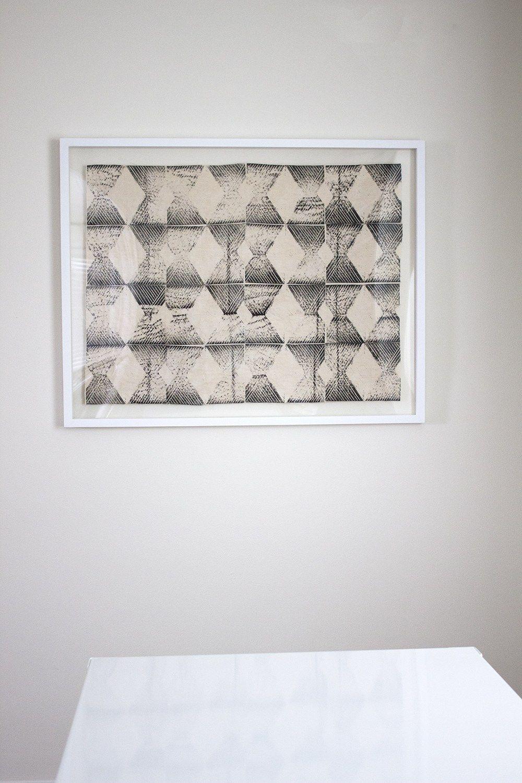 Framed block print fabric art fabric art printing on
