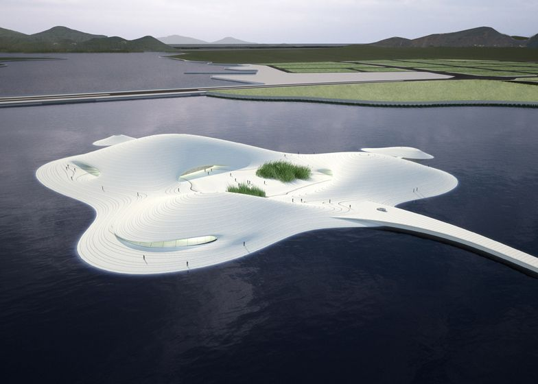 Three-humped art museum by MAD due to start construction on Pingtan island in China's Fujian province.