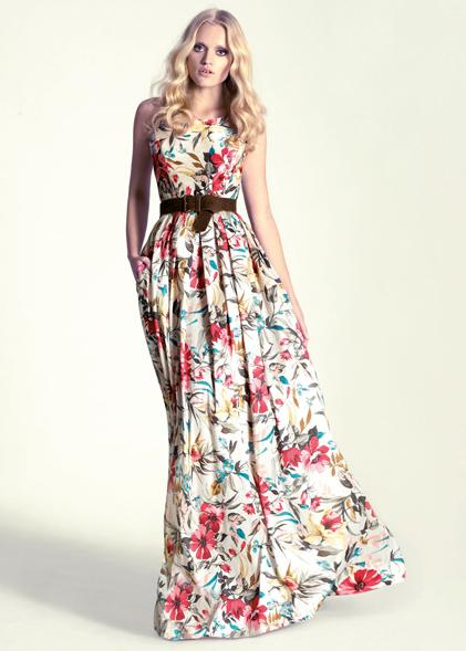 Vestidos de flores largos para fiesta