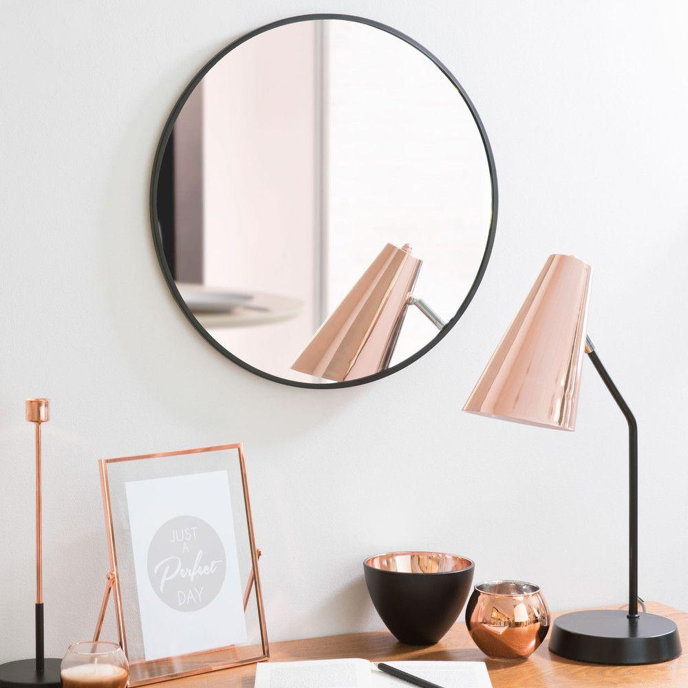 Runder spiegel aus metall schwarz d 40 cm grazzia wunschliste in 2019 pinterest runde - Runder spiegel schwarz ...