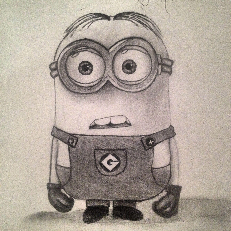 Late night minion drawing:) so cute | Minion drawing ...