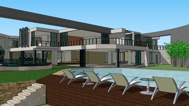 Casa moderna my dream home 3d warehouse sketchup 3d for Casa moderna sketchup download