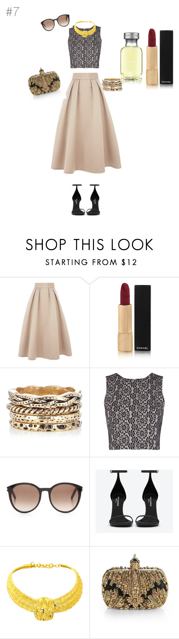 """Bonjour Principesa!"" by maries on Polyvore featuring Coast, Chanel, Warehouse, Yves Saint Laurent, Alexander McQueen and Burberry"