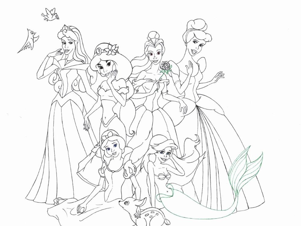 Comment dessiner des princesses ? en 2020   Coloriage princesse disney, Coloriage princesse ...