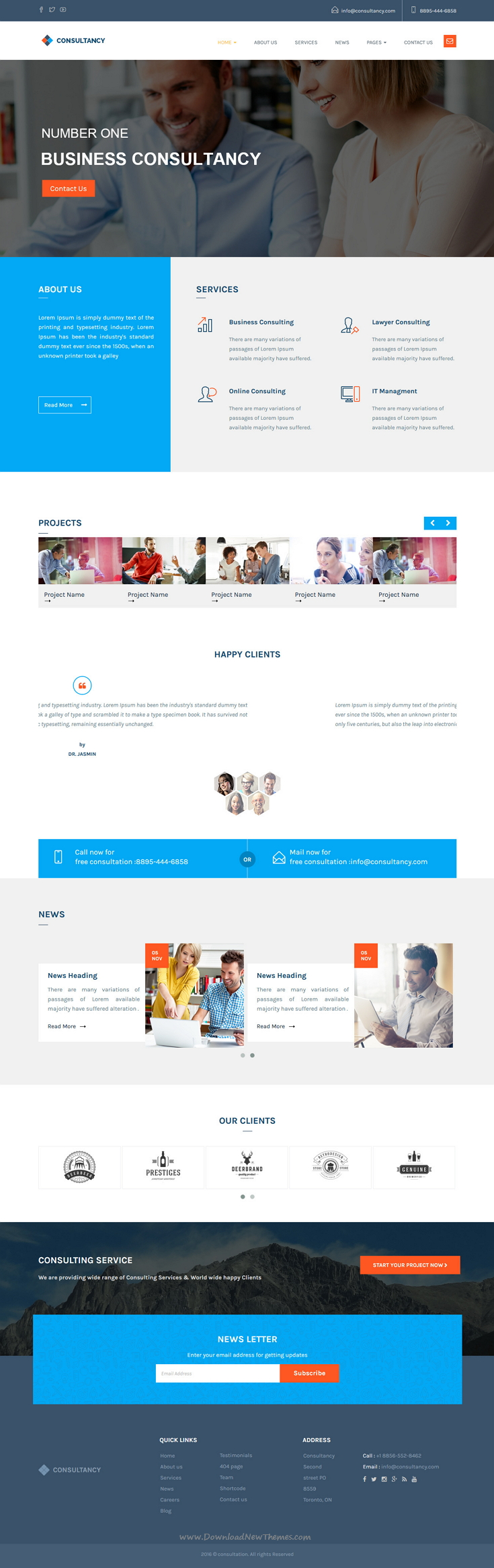 Consultancy - HTML Bootstrap Template | Template