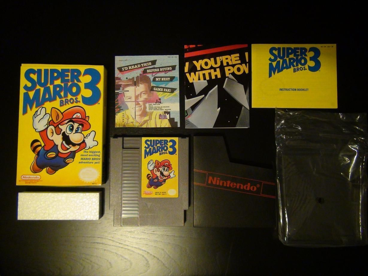 Super Mario Bros 3 Nintendo Nes Game Cartridge Mint In Box Complete All Inserts Gamer Super Mario Bros Mario Bros Super Mario