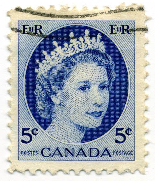 Vintage Canadian Stamp Mail