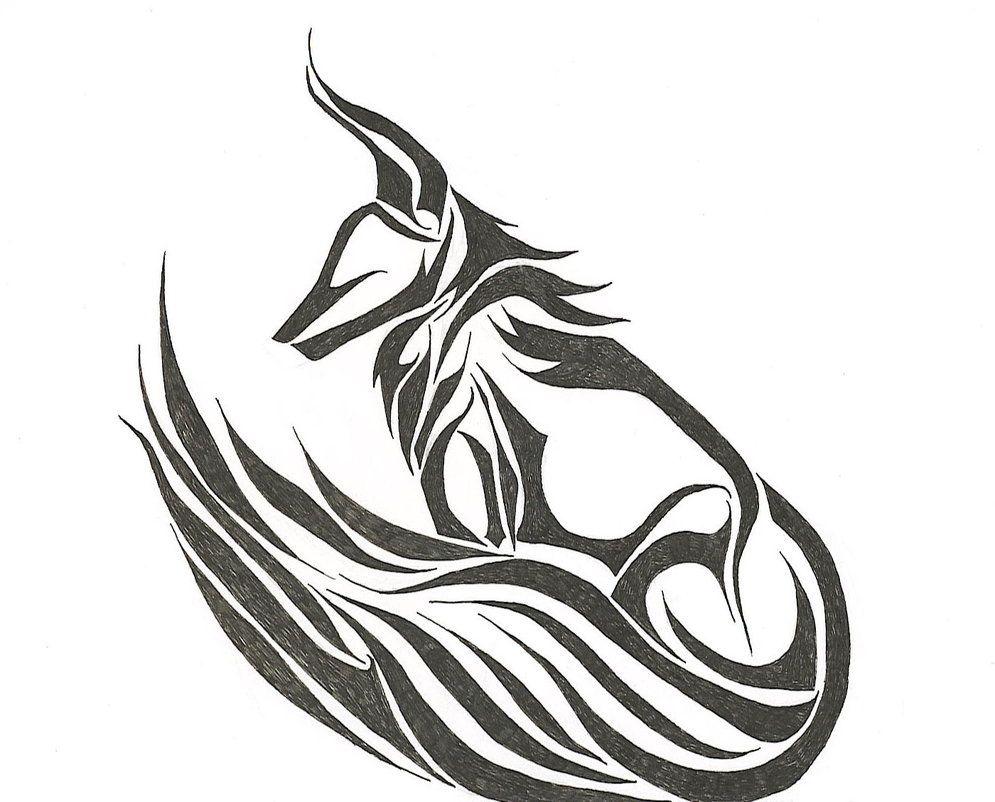 Tribal Fox Tribal Fox Fox Tattoo Tribal Animal Tattoos
