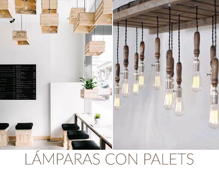 ideas diy decoration lamparas palets | deco | Pinterest | Decorar tu ...