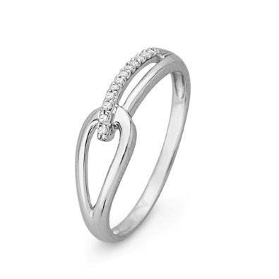 love, love, love ,love love!!!!!!!!!!!!!!!!!!!!!!!!!!!!!    (size7!) 10KT White Gold Round Diamond Knot Fashion Ring (1/20 cttw): Jewelry:Promise Ring Amazon.com
